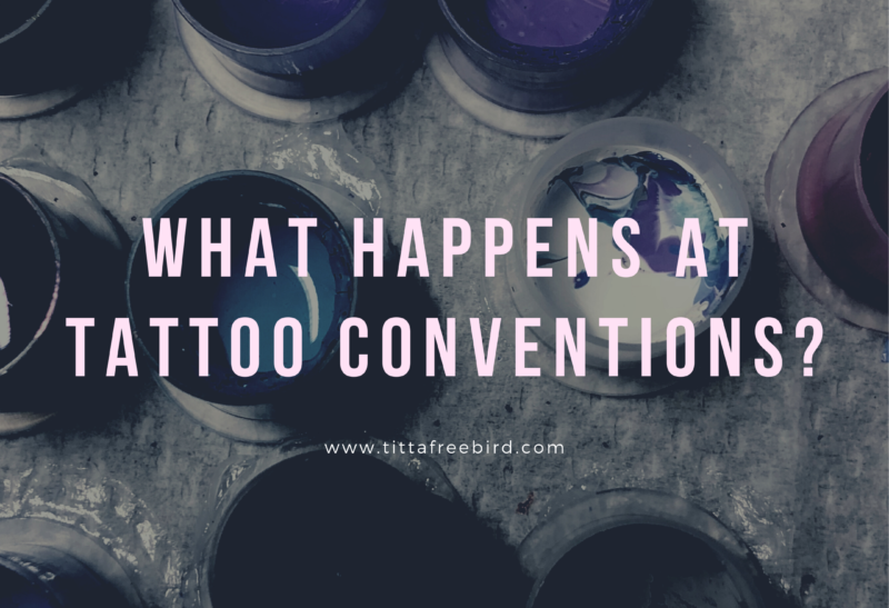 What happens at tattoo conventions?